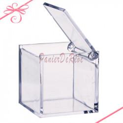 Contenant plexi boite carrée